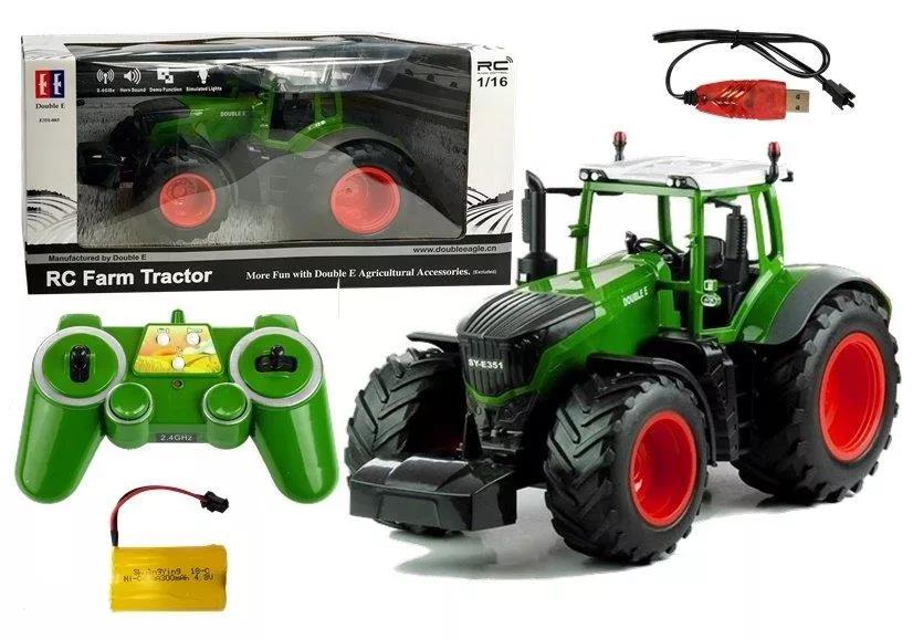 Zdalnie sterowany traktor Double E