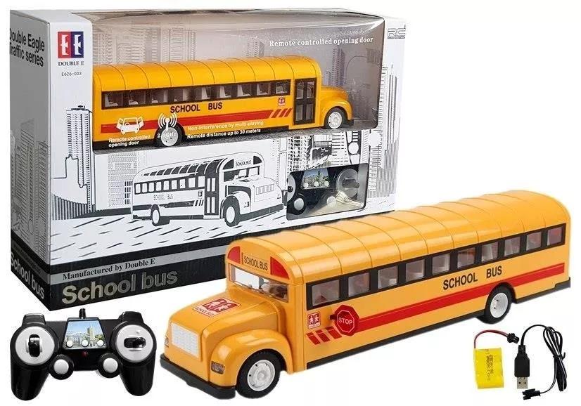 Autobus zdalnie sterowany Leantoys żółty